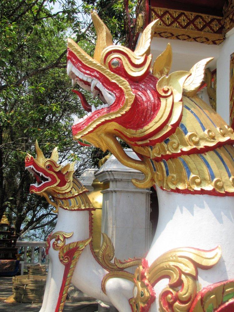 Dragon statues at Doi Suthep, Chiang Mai, Thailand