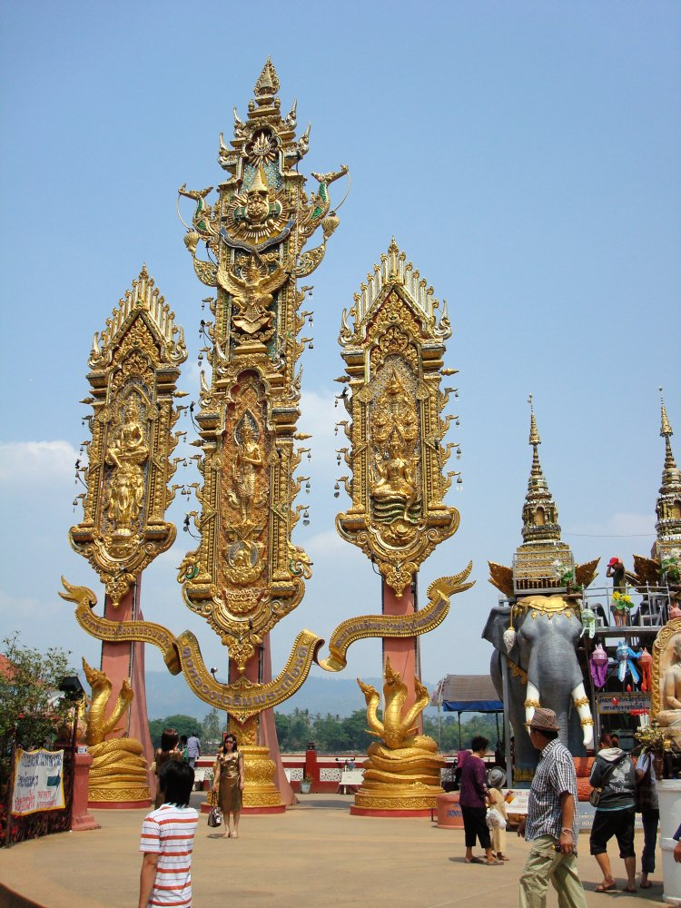 Monuments in the Golden Triangle area, Thailand