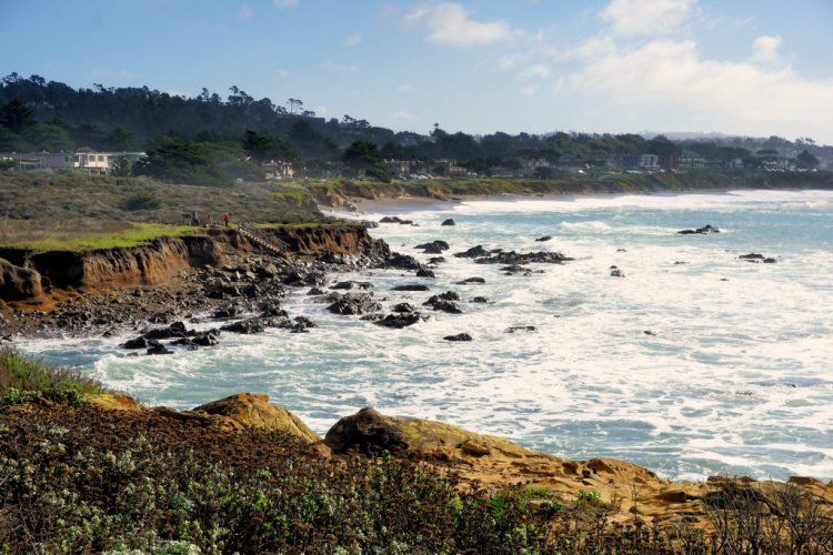 View from the Moonstone Beach Boardwalk, Cambria, California