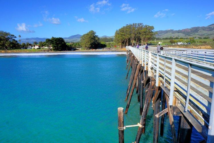 San Simeon Pier at San Simeon Bay, California
