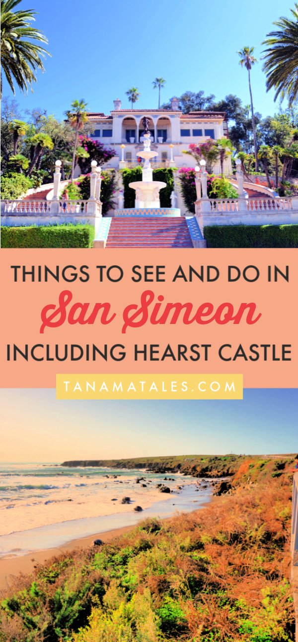 Things to do in San Simeon, #California – Travel tips and ideas – San Simeon is a wonderful place to visit on a Pacific Coast Highway road trip. It is home to beautiful Hearst Castle, the Piedras Blancas elephant seal rookery, a pier, beaches, hiking trails and campgrounds. Plus, it is considered the gateway to big Sur! My detailed guide shows you what to do in the town and area (Cambria). Enjoy! #CentralCoast #PCH #USA