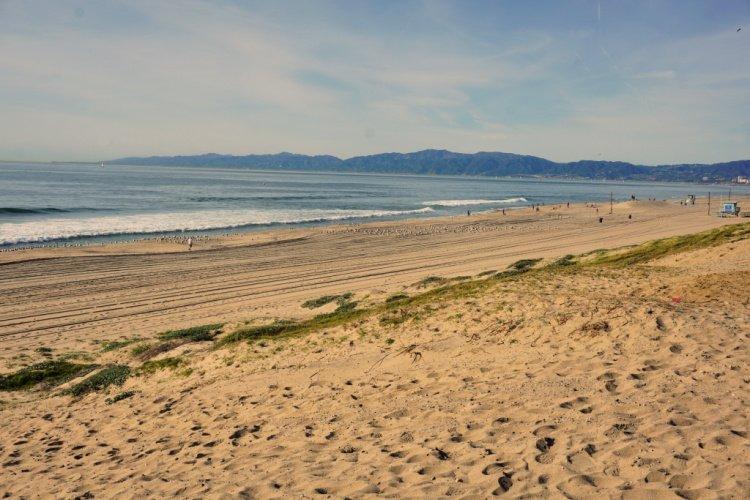 Dockweiler State Beach near El Segundo, California