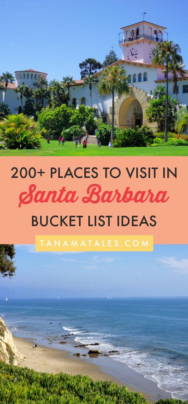 Things to do in Santa Barbara, #California - Travel tips and vacation ideas - This article has 200+ ideas on things to see, do, eat and drink in Santa Barbara. My bucket list includes beaches, hikes, historical sites, towns in the countryside, restaurants, hotel, shopping and wine tasting rooms.  Clear your next week because there is a lot to do in this area! #Solvang #SantaYnezValley #Carpinteria #Goleta