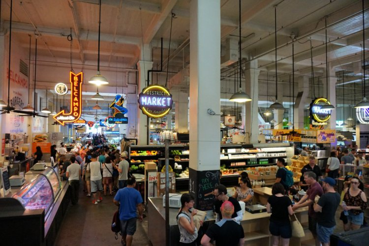 Grand Central Market in Los Angeles' Historic Core