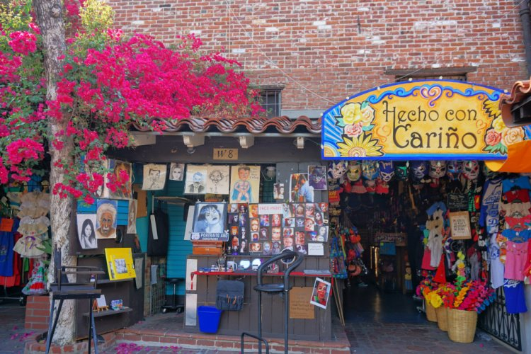 Building at Olvera Street in Downtown Los Angeles, California