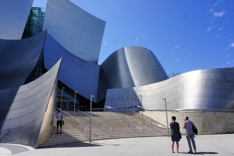 Front entrance of the Walt Disney Concert Hall, Downtown Los Angeles, California