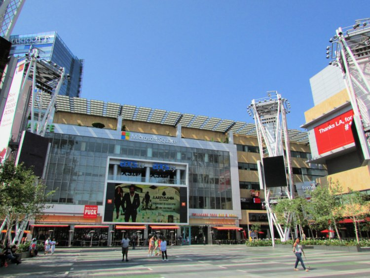 LA Live, across the Staples Center, Downtown Los Angeles, California