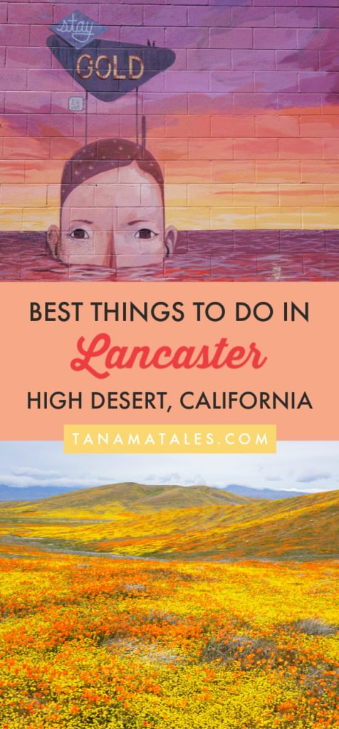 Things to do in #Lancaster, #California - Travel tips and vacations ideas - Lancaster, a desert community in Los Angeles County, is known for it poppy reserve, its parks full of Joshua Trees, a thriving downtown area, innovative museums, murals and fun events. Discover everything this community has to offer. You will be surprised! #SouthernCalifornia #roadtrip #highdesert