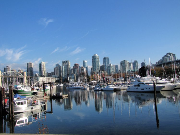 Vancouver Skyline seen from path, Vancouver, Canada