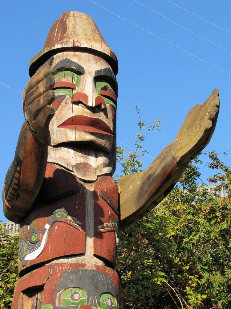 Totem pole near Vanier Park, Vancouver, Canada