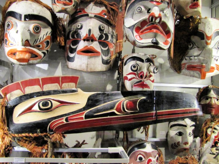 Masks at the Museum of Anthropology, Vancouver, Canada