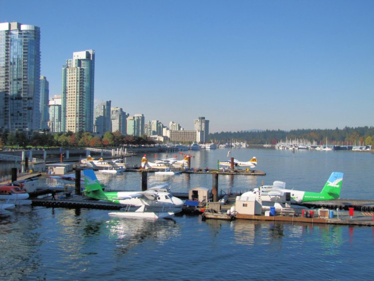 Seaplanes at Coal Harbor, Vancouver, Canada