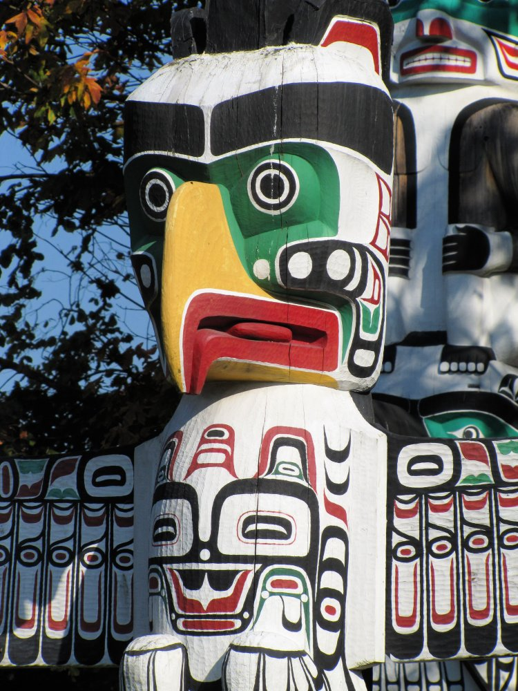 Totem pole at Stanley Park, Vancouver Itinerary, Canada