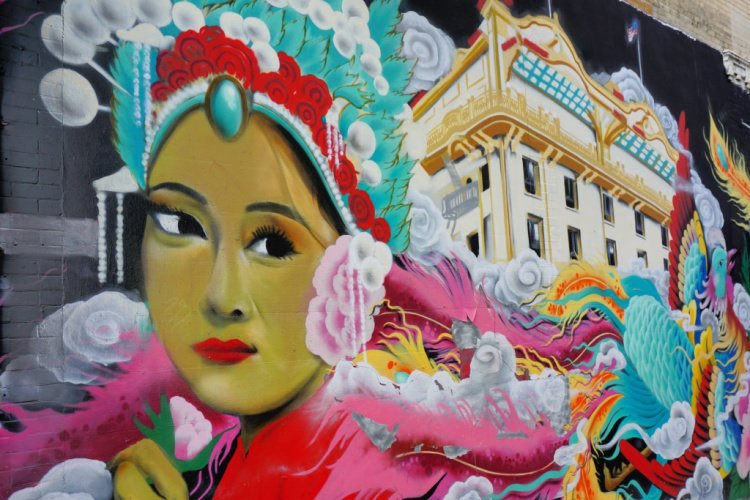 Mural in Chinatown, San Francisco, California