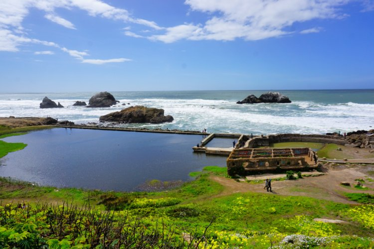 Sutro Baths located in the Land's End area, San Francisco, California