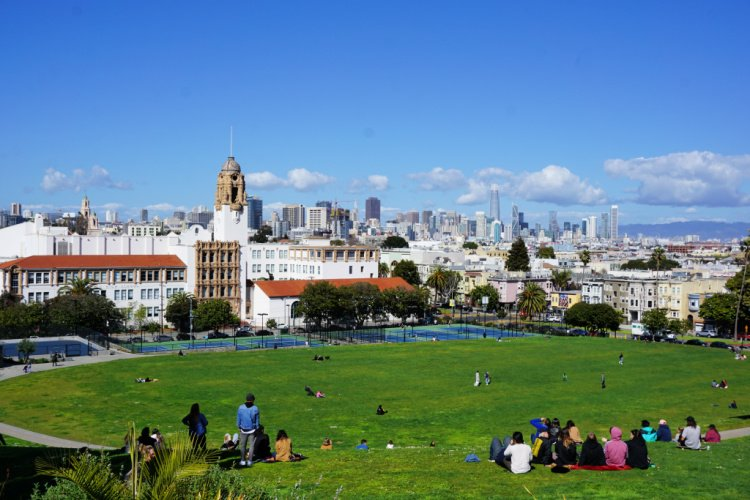 View from Dolores Park in San Francisco, California