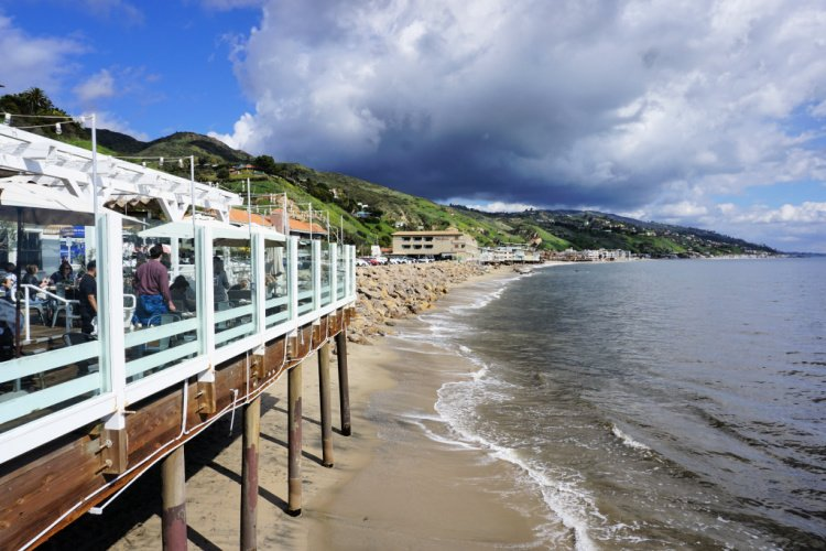 View from Malibu Pier, California