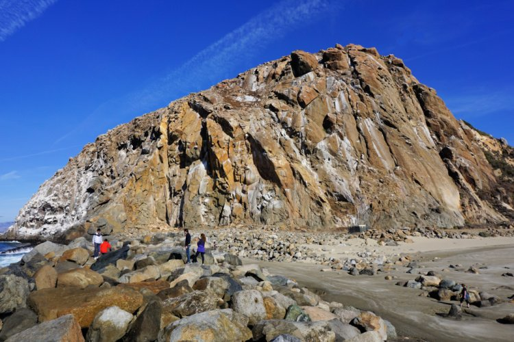 Closeup of Morro Rock, Morro Bay, California, Los Angeles to San Francisco Drive