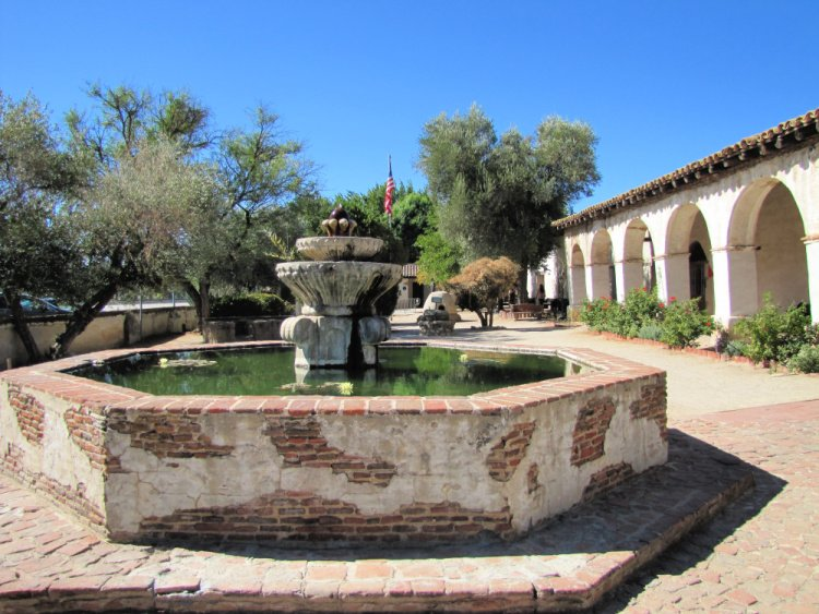 Courtyard of Mission San Miguel Arcangel, California