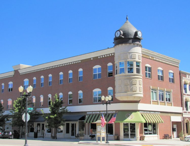 The famous Acorn Building in Paso Robles, Caliofrnia