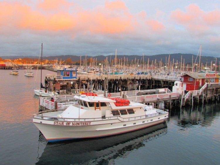 Boats and ships in Fishermen's Wharf, Monterey, California