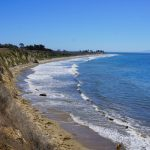 Ellewood Cliffs seen from Bluff Overlook Trail, Best Beaches in Santa Barbara, California