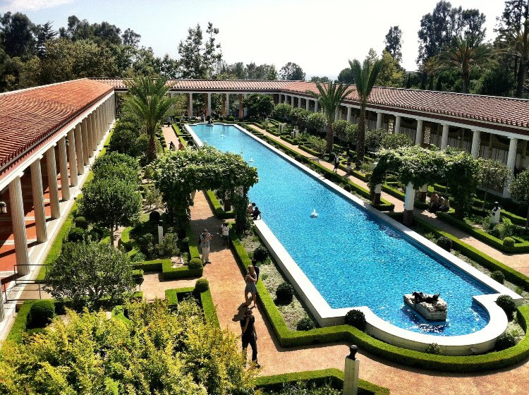 Los Angeles to Santa Barbara Drive:, Getty Villa, Malibu