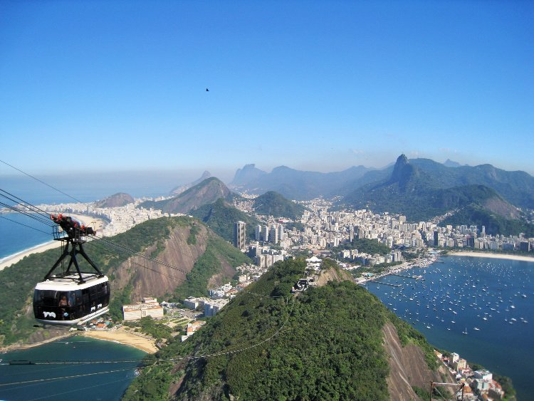 View from the top of Sugarloaf (Pao de Azucar), Rio de Janeiro, Brazil