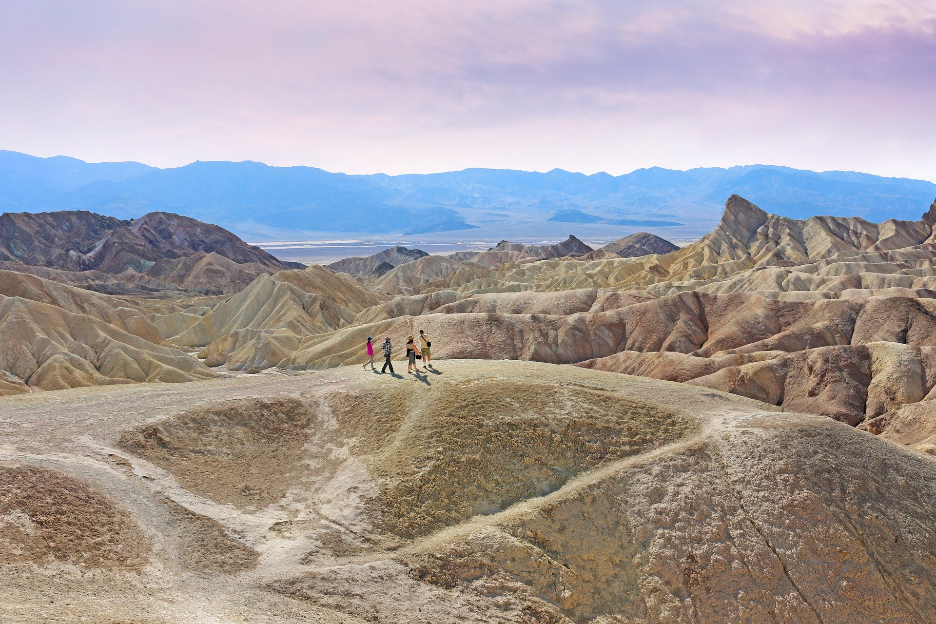Hiking around Zabriski Point, Las Vegas to Death Valley Day Trip