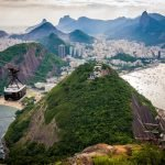 View from Sugarloaf during sunset, Riod de Janeiro itiinerary