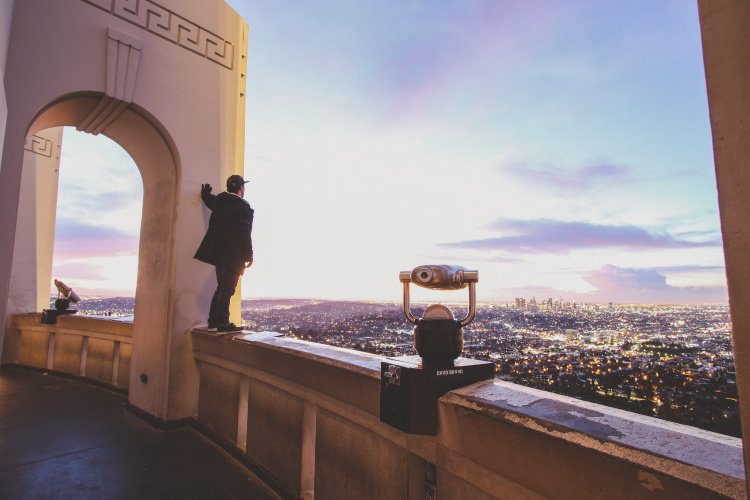 Sunset view from Griffith Observatory
