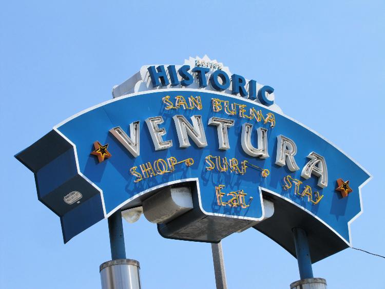 Historic Ventura Neon Sign, Things to Do in Ventura, California