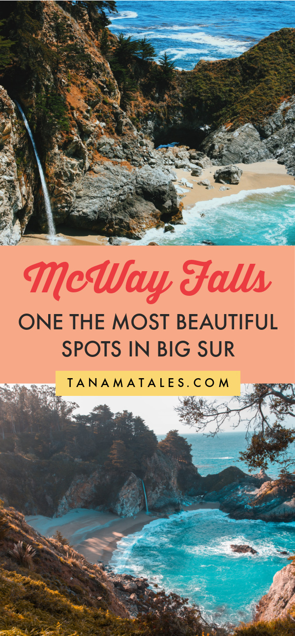 Tips for visiting McWay Fall, one of the most stunning spots in Big Sur | California | Things to Do in Big Sur | Big Sur Wedding | Big Sur Engagement | Big Sur Photography | Big Sur Camping | Big Sur Aesthetic | Big Sur Hikes | Big Sur Road Trip | Pacific Coat Highway Road Trip | Big Sur Stops | Julia Pfeiffer Burns State Park | McWay Falls Photography | McWay Falls Hike | McWay Falls Instagram | Bixby Bridge | California Road Trip