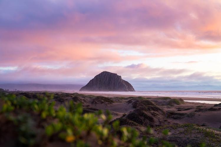 Morro Rock at Sunset, San Luis Obispo Camping