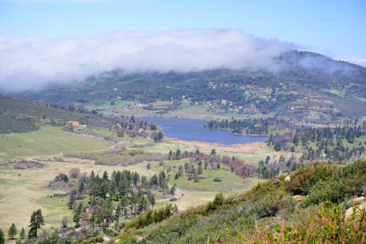 View of Lake Cuyamaca from Stonewall Peak